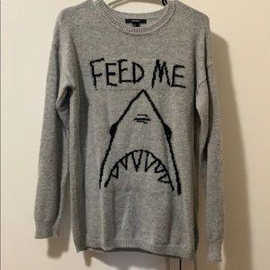 Forever 21 shark sweater